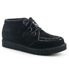 Demonia V-Creeper-662 Black Men's Vegan Suede Platform Shoes - Gothic,Goth,Punk,