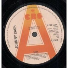 """JOHNNY CASH Lady 7"""" VINYL UK Cbs 1977 Promo B/W Hit The Road And Go (Scbs5564)"""