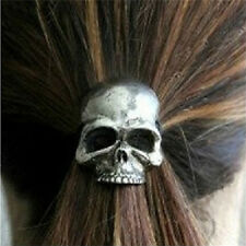 Punk Skull Hair Tie Cuff Wrap Ponytail Holder Hair Band Rope Accessory 5HUK