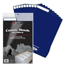 BCW 6 COMIC BOOK BLUE DIVIDERS NEW STORAGE FOR LONG SHORT BOXES ACID FREE