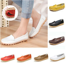 Womens Lady Oxfords Shoes Leather Ballet Loafers Casual Boat Comfort Flats Shoes