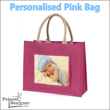 Personalised Jute Bag Printed with your Photo and Text