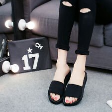 Chic Women Thick Bottom Sandals Peep Toe Slipper Casual Pumps Slipper Shoes NEW