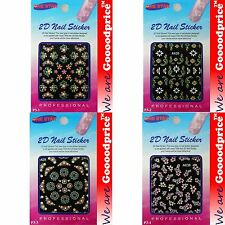 Trendy Nail Art Seal Flowers Nail/Toe Sticker Pack Ladies Gift 03-0104