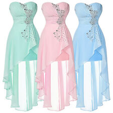 Chiffon High Low Homecoming Prom Formal Wedding Evening Party Cocktail Dresses