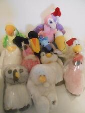 WEBKINZ LIL KINZ CATS PELICAN CHICKEN PENGUIN DUCK TOUCAN PEACOCK COCKATOO SWAN