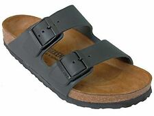 Birkenstock 'Arizona' Oiled Real Leather 2-Strap Women's Sandals, Black