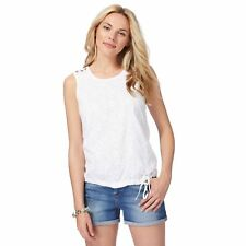 Mantaray Womens White Embroidered Peacock Feather Vest Top From Debenhams