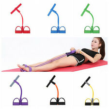 2 Tube Foot Pedal Pull Rope Resistance Exercise Yoga Sit-up Fitness Equipment D