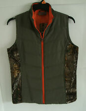 Women's Northcrest Realtree Olive Green & Camo Quilted Vest 2 Pockets NWT