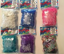 NEW Authentic Rainbow Loom Rubber Bands - 600 Bands & 24 C-Clips