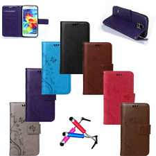 Fashion Pattern Printed PU Leather Card Wallet Case Cover For Samsung