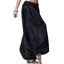 Women Girls' Satin Harem Yoga Genie Trousers Aladdin Belly Dance Pant Pantaloons