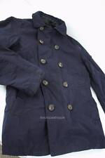 Armani Exchange A|X Mens Peacoat Zip Out Dual Coat Buttoned Jacket Navy NWT $320