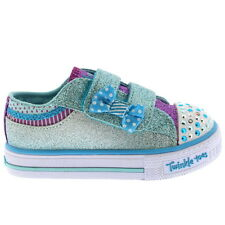 Kids Girls Skechers Shuffles Twinkle Toes Bow Buddies Glitter Trainers All Sizes