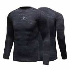 Men Long Sleeve Compression Base Layer Top Thermal Under Gym Sport T-shirt Shirt