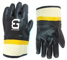 72 Pairs Better Grip Sandy finished Chemical Resistant PVC glove-BG105BLK/YEL
