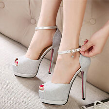 Womens Strappy Sandals Platform High Heels Stiletto Show Party Clubwear Shoes