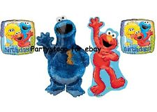 SESAME STREET BALLOONS BIRTHDAY PARTY DECORATIONS BIG BIRD ELMO COOKIE MONSTER