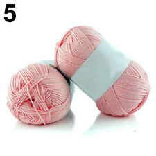 50g Colorful Soft Bamboo Crochet Cotton Knitting Baby Wool Yarn Fingering Best