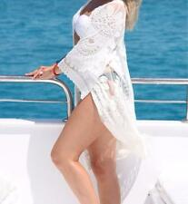 Bathing Suit Cover Up With Floral Embroidery