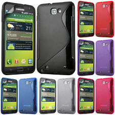 Protective Cover for Samsung Galaxy Note N7000/i9220 LTE TPU Silicone Flip