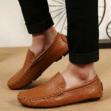 US 6-13 Men Driving Casual Boat Shoes Leather Moccasin Slip On Flats Loafers