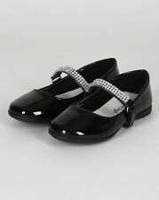 New Girl Little Angel Kelly-767E Round Toe Rhinestone Mary Jane Ballerina Flat