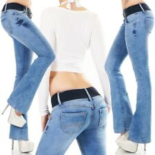 Womens NEW Destroyed Bootcut Jeans FREE Belt Size 6 8 10 12 14 Sexy Low Rise