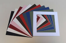 """8 x 8"""" Cardboard Photo/Picture MOUNTS - Choice of colours & cut out sizes"""