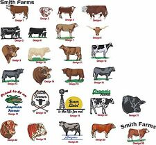 6 New Shirts Embroidered 4Ur Farm Angus Hereford Charolais Limousin Simmental &