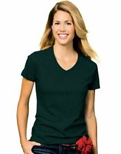 Hanes 5780 Relaxed Fit Women Comfortsoft V-Neck T-Shirt Green- Choose SZ/Color.