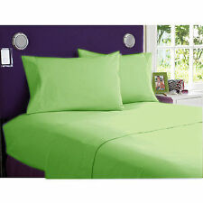 DUVET/FITTED/FLAT/PILLOW 1000 TC EGYPTIAN COTTON ALL SIZE SAGE SOLID