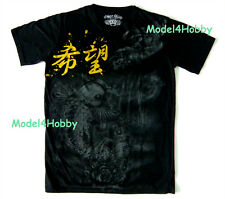 EMPEROR ETERNITY T-Shirt Black Sz M L XL FISH CARP KOI GODDESS GOLD FOIL TATTOO