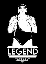 Andre The Giant LEGEND shirt WWE WWF Wrestling 8th Wonder of the World