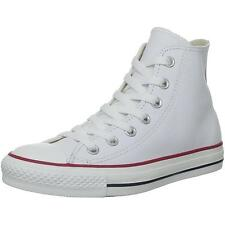 Converse Chuck Taylor All Star Hi Optical White Leather Trainers