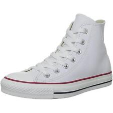 Converse Chuck Taylor All Star Hi Optical White Leather Trainers Shoes