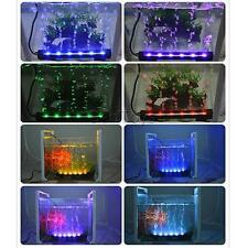 LED Color Changing Remote Aquarium Fish Tank Air Pump Bubble Light Bar-US Plug