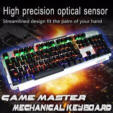 USB Colorful LED Backlight Wired Gaming Keyboard Multimedia PC For Pro Gamer