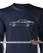 1969 Plymouth Barracuda Fastback Long Sleeves T-Shirt - Multiple Colors & Sizes