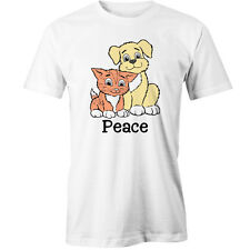 Cat And Dog Peace T-Shirt Animal