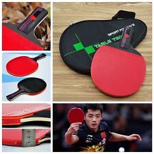 1 PC Training Table Tennis Racket Bat Carbon Fiber Ping Pong Paddle With Bag