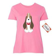 Inktastic Basset Hound With Floppy Ears Women's Plus Size T-Shirt Dog Puppy Red