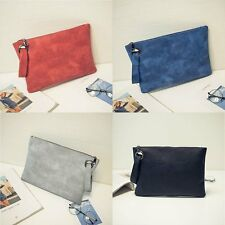 Women PU Leather Handbag Envelope Clutch Wallet Evening Shoulder Party Bag Purse