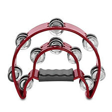 Half Moon Percussion Tambourine Shaker Instrument Music Educational Toy