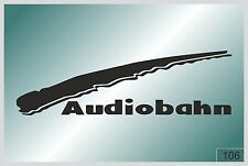 Audiobahn - sticker on car - HIGH QUALITY - different colors - №0106