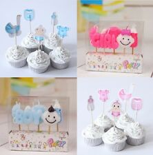 New Baby Boy Baby Girl Candle Cake Topper Cupcake Baby Shower