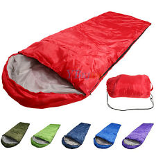 Outdoor Portable Ultralight Mummy Sleeping Bag Camping Hiking With Carrying Case