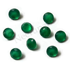 Natural Indian Green Onyx AA Quality Faceted Round Shape Loose gemstones