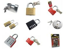 Padlocks 40mm 50 mm 63mm 70mm Disc Rhombic Shutter Padlock Lockers Sheds Garages